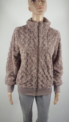 Folia Damen Fake Fur  Jacke Sweatjacke beige Übergang Größe 3 / L