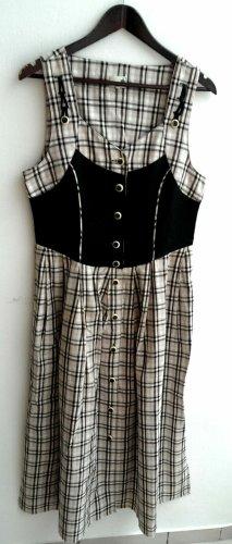 Folk Line gebrauchtes Damen Trachten Kleid ärmellos Gr. 40 schwarz beige kariert TS261