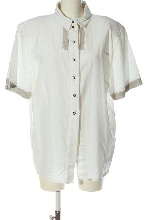 Folk Line Folkloristische hemd wit casual uitstraling