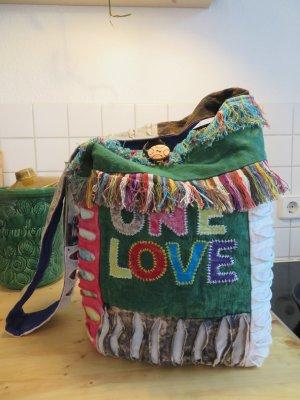 Folklore Hippie Tasche Ethno Bag Patchwork Tasche Shopper Gün Blau Rot Cotton Patchwork Crossbody Bag Vintage Umhängetasche Festival