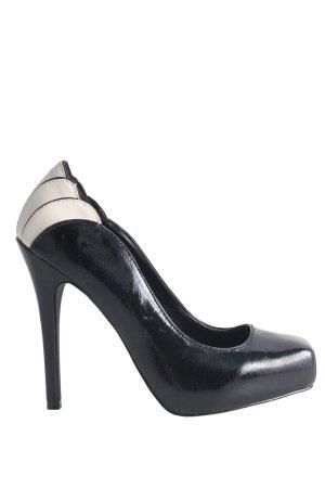 Foot Candy Tacones con plataforma negro-blanco elegante