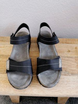 Footflexx Komfortschuhe Sandalen Pantoletten Sommerschuhe 38 schwarz