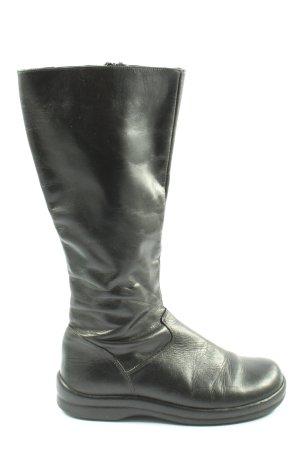 Footprints Wide Calf Boots black casual look