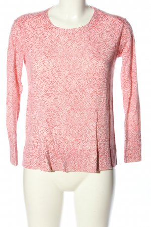 for friends only Longsleeve pink-wollweiß Allover-Druck Casual-Look