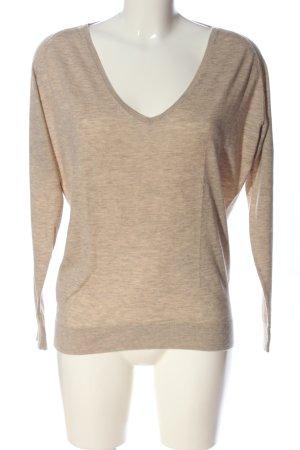 for friends only V-Ausschnitt-Pullover braun meliert Casual-Look