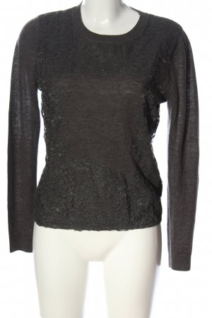 for friends only Wollpullover hellgrau meliert Casual-Look