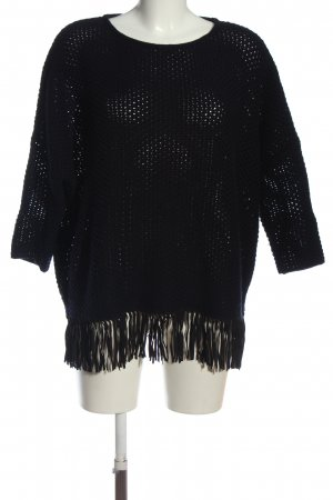 for friends only Wollpullover schwarz Casual-Look