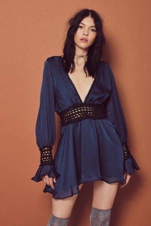 For Love and Lemons Celine Mini Kleid XS
