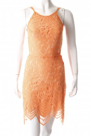 For Love and Lemons Spitzenkleid orange