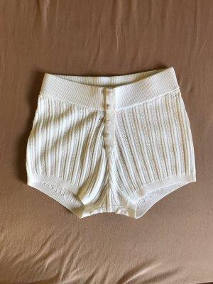 For Love & Lemons Pantaloncino a vita alta bianco