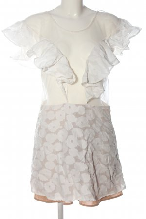 For Love & Lemons Vestido cut out blanco-gris claro look casual