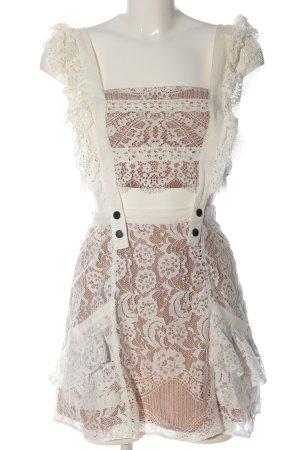 For Love & Lemons Cut-Out-Kleid wollweiß-nude Elegant