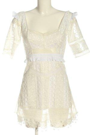 For Love & Lemons Mini Abito crema-bianco elegante