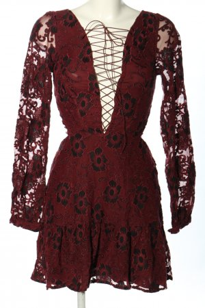For Love & Lemons Spitzenkleid rot Casual-Look