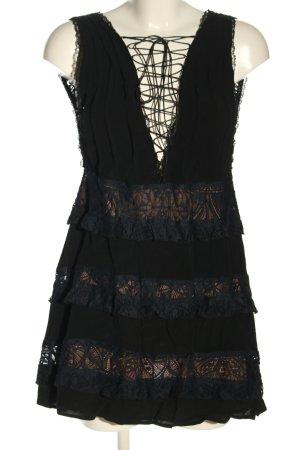 For Love & Lemons Spitzenkleid schwarz-blau Elegant