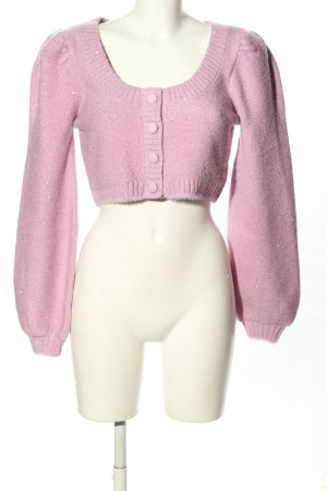 For Love & Lemons Cardigan in maglia rosa puntinato stile casual