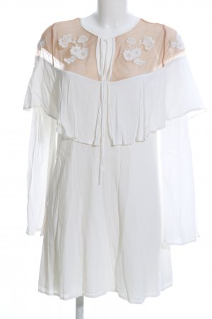 For Love & Lemons Tunic Dress white-nude flower pattern casual look