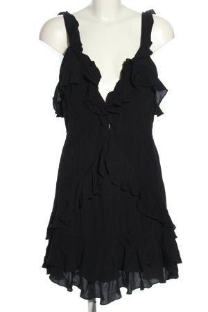 For Love & Lemons Volantkleid schwarz klassischer Stil