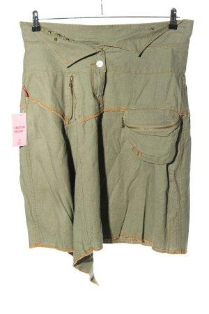 Forecast Spódnica militarna khaki-jasny pomarańczowy W stylu casual