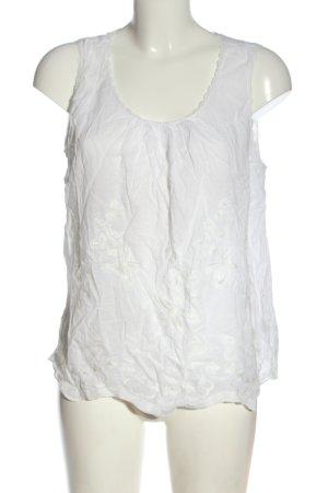 Forever 21 Bluzka bez rękawów biały W stylu casual