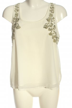 Forever 21 ärmellose Bluse creme Casual-Look