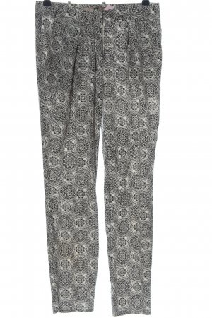 Forever 21 Baggy Pants wollweiß-schwarz Mustermix Casual-Look