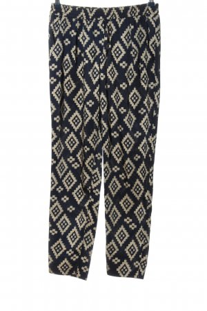 Forever 21 Baggy Pants lila-wollweiß Allover-Druck Casual-Look