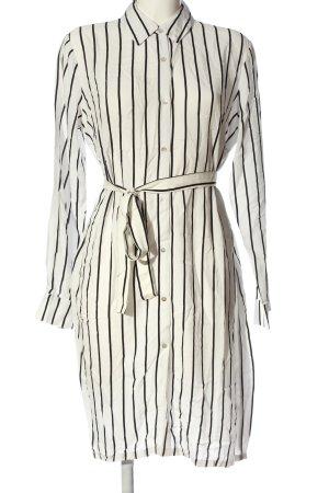 Forever 21 Blusenkleid weiß-schwarz Streifenmuster Business-Look