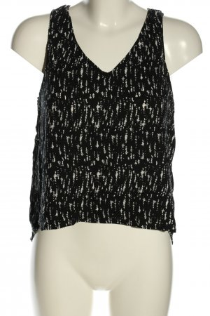 Forever 21 Blusentop schwarz-weiß abstraktes Muster Casual-Look
