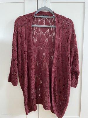 Forever 21 Crochet Cardigan purple