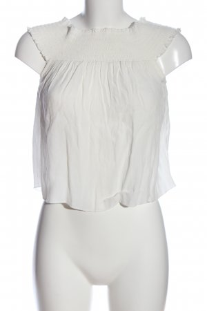 Forever 21 Blusa tipo Carmen blanco look casual