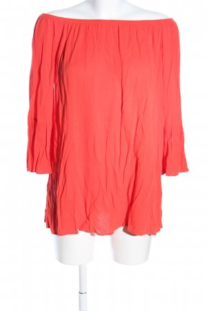 Forever 21 Carmen-Bluse rot Casual-Look