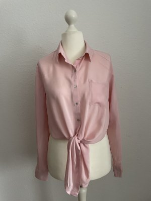 Forever 21 Long Sleeve Blouse light pink-pink