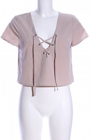 Forever 21 Cropped Shirt nude Casual-Look