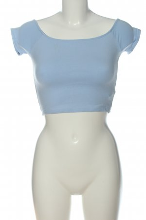 Forever 21 Cropped Shirt blau Casual-Look