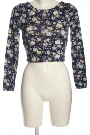 Forever 21 Cropped Shirt Blumenmuster Casual-Look