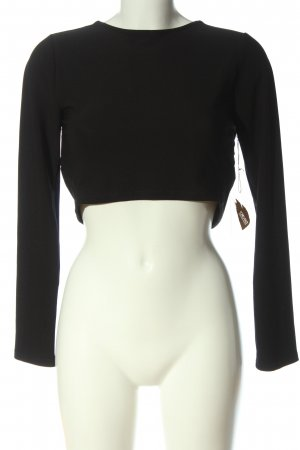 Forever 21 Cropped Shirt schwarz Casual-Look
