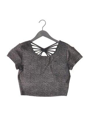 Forever 21 Cropped Shirt black polyester