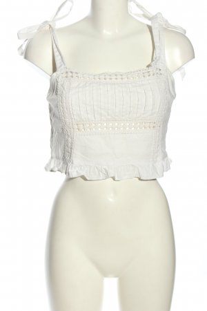 Forever 21 Cropped Top weiß Casual-Look