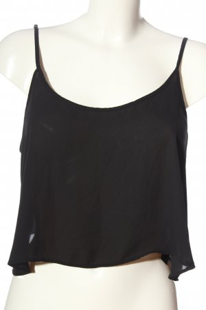Forever 21 Cropped Top schwarz Casual-Look