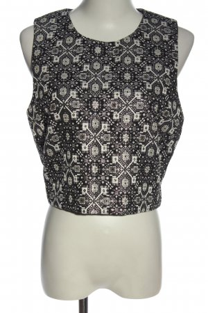 Forever 21 Cropped top zwart-wolwit volledige print casual uitstraling