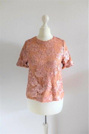 forever 21 exclusive Crop Top Shirt Oberteil Paillette rose Gr. S 36
