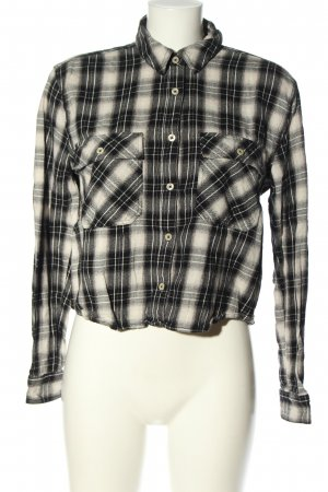 Forever 21 Flannel Shirt black-white check pattern casual look