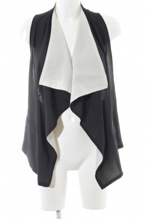 Forever 21 Fringed Vest black-white casual look