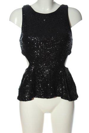 Forever 21 Glanzende blouse zwart glitter-achtig