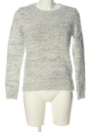 Forever 21 Szydełkowany sweter jasnoszary Melanżowy W stylu casual