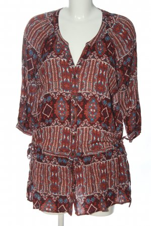 Forever 21 Hemd-Bluse Allover-Druck Casual-Look