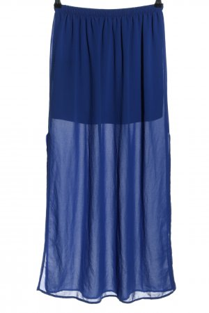 Forever 21 High Waist Rock blau Party-Look
