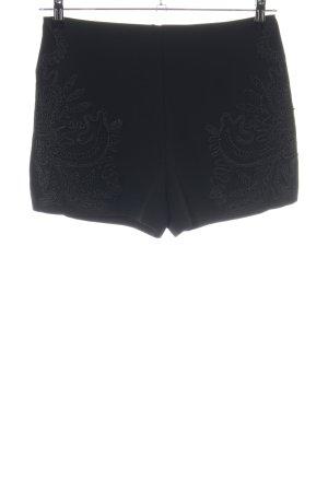 Forever 21 High-Waist-Shorts schwarz Mustermix Casual-Look
