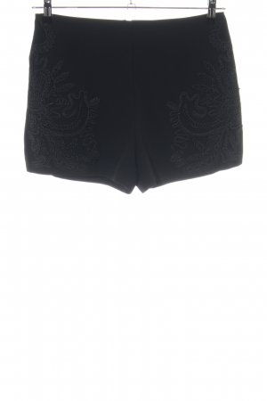 Forever 21 High-Waist-Shorts schwarz Mustermix Casual-Look